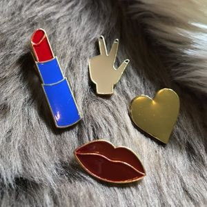 Jewelry - 🆕 4pc Enamel pin & brooch set